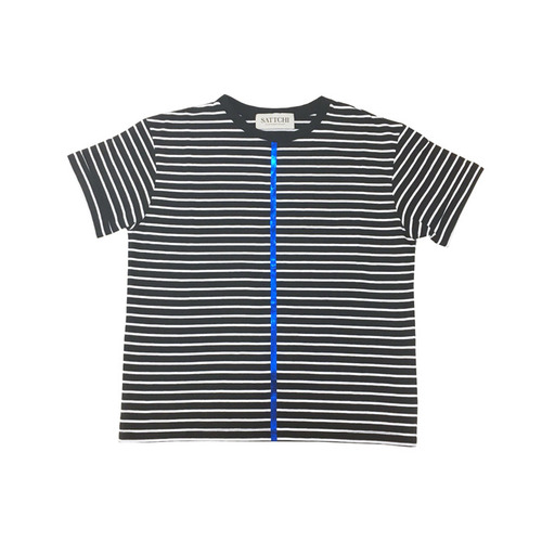 STRIPE SHORT SLEEVE-black