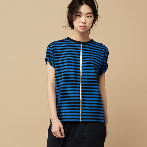 STRIPE SHORT SLEEVE-blue