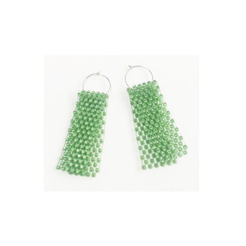 TWINKLE NET EARRINGS green