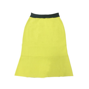 MERMAIDE LONG/MIDI SKIRT -yellow
