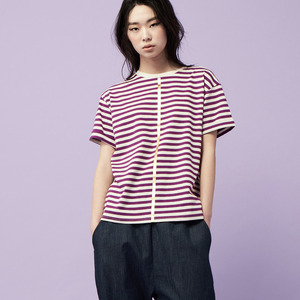 STRIPE SHORT SLEEVE-violet