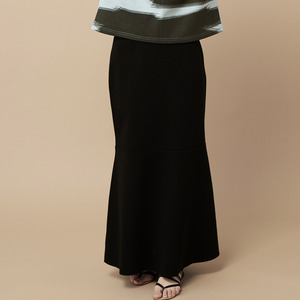 MERMAID LONG/MIDI  SKIRT-black