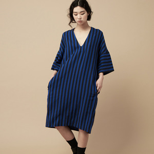 STRIPE DRESS-blue
