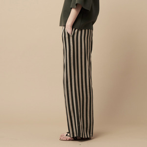 STRIPE PANTS-beige