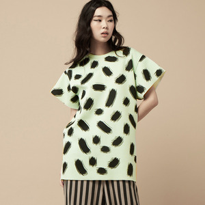 TOUCH PRINT LONG TOP-mint