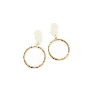 [삿치] RAINDROP RING EARRINGS