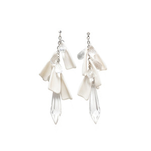 [삿치] DRIP DROP CRYSTAL ACRYLIC EARRINGS
