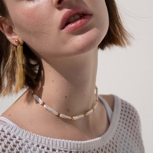 [VACANCE EVENT] FLAT PEARL  CHOKER 2 color